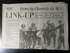More details for news chronicle: april 28th 1945 russian & americans link up  birthday newspaper