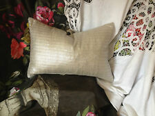 Designers Guild Fabric Shima  silver Metallic shimmering bolster 16x11""