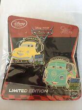 Fillmore & Luigi Limited Edition LE 350 Disney Store Cars 2 2011 2 Pin Set New