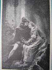 Antique print portrait Romeo and Juliet Constantin Makowski holzstich Julia 1898