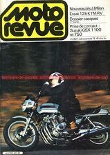 MOTO REVUE 2437 SUZUKI GSX 750 1100 KTM 125 RV Salon de MILAN 1979