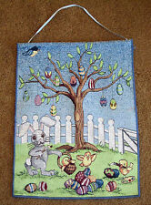 Easter Celebration ~ Easter Egg Hunt Tapestry Bannerette Wall Hanging w/Lights