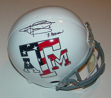 Johnny Manziel Signed Texas A&M Stars & Stripes FS Helmet w/12 Heisman Fanatics