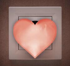 LED Steckdosenlicht  Night Light Sicherheitsleuchte Nacht Licht Nachtlicht Herz