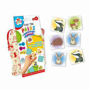 KIDS CREATE FIND THE PAIRS MEMORY GAME IN A HANDY BAG EDUCATIONAL FUN KIDS