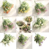 Artificial Fake Flowers Wild Chrysanthemum Floral Wedding Bouquet Home Decor