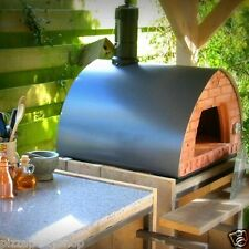 PizzaParty wood fired oven GREY +SupportWithWheels+GlassDoor+2PizzaPeelspacesave