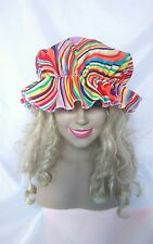 mop cap kitchen maid clown festival gay pride rainbow hat sissy fancy dress