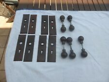 5 sets of Bakelite door handles and 4 pairs of backing plates