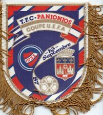 FANION WIMPEL PENNANT TOULOUSE V PANIONIOS ΠΑΝΙΩΝΙΟΣ UEFA CUP 1/32° FINAL 1987