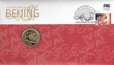 2008 Australia $1 UNC Coin, Olympic Games Beijing Perth Mint PNC