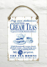 Martin Wiscombe clotted cream teas wall hanging décoratif en bois signe mer plage