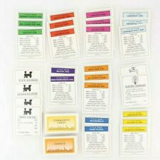 Monopoly Deluxe Edition Property Deeds Chance Community Chest Cards 1998 Parts