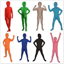 Kid Halloween Full Bodysuit Spandex Lycra Zentai Suit Tight Catsuits Unitard