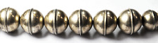 """Sterling Silver Beaded Necklace 6-12mm Round Handcrafted Beads Graduated 24"""""""