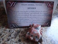 *SPIDER* Carved Stone Figurine Totem (1) FREE Bonus LOOK Wiccan Pagan Gift