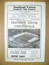 1960 League Division III- SOUTHEND UNITED v CHESTERFIELD