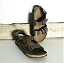 Birki's Ankle Strap Buckle Brown Men's Sandals Size 13 M #303