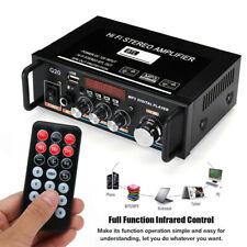 600W Wireless Stereo Audio Amplifier Car Home HiFi Music USB FM SD Karaoke