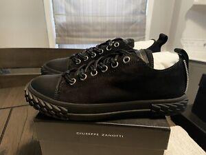 NEW Giuseppe Zanotti Black Blabber Sneaker Sz 7.5 US / 40.5 EUR