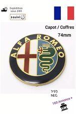 Logo Capot Coffre ALFA ROMEO 74mm Gold FR