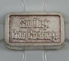 1980 San Diego Coin Exchange Ingot Anaheim Metal 1oz 999 Fine Silver Bar C0412