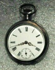 fine antique Galonne 6 jewel pocket watch sterling silver case running