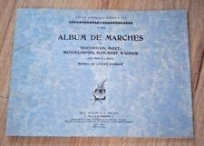 PARTITION ALBUM DE MARCHES POUR PIANO A 4 MAINS MULTI COMPOSITEURS 5 MORCEAUX