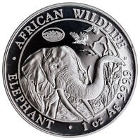 2017 Somalia 1 oz Silver Elephant Denver ANA Privy Prooflike 100S OGP SKU48743
