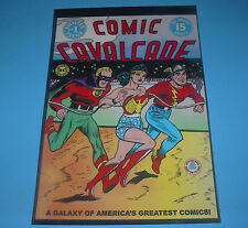 DC COMICS FAMOUS COVERS COMIC CAVALCADE FLASH,WONDER WOMAN GREEN LANTERN PIN UP