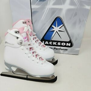 Jackson Ultima Figure Ice Skates JS181 Youth Size 1 Pink High Top Lace Up