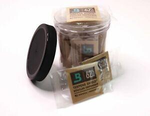20 Pack Boveda 62 RH 4 gram 2 Way Humidor Packs + CG PET Storage Jar SHIPS FREE