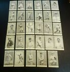 1948 EXHIBIT CARDS-  BASEBALL GREAT HALL OF FAME-LOT 0F 29 , TY COBB, LOU GEHRIG