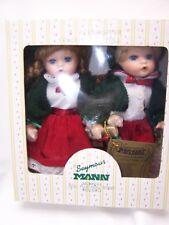 Seymour Mann Christmas Twice As Nice Twin Porcelain Doll Set - A Connoisseur Set