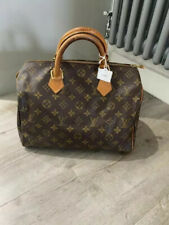 Louis Vuitton Bag Speedy 30 Brown Leather Monogrammed With Authenticity Certific