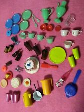 Huge Vintage Mattel Barbie Sz & Clone Dishes, Birthday Cakes, More!