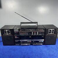 Vintage Panasonic Twin Cassette Radio Boombox Stereo Player Retro RX-CW26L