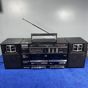 Vintage Panasonic Twin Cassette Radio Boombox Stereo Player Retro RX-CW26L