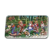 Alice in Wonderland Garden Party Metal Rectangle Lapel Hat Pin Tie Tack Pinback