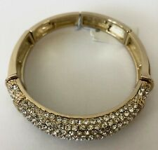 Bangle Bracelet Brand New Cubic Zirconia Gold Plated Sectional