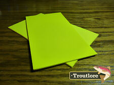 """2 x YELLOW CLOSED CELL FOAM SHEETS 5"""" x 3"""" - NEW FLY TYING MATERIALS"""
