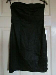 BANDEAU  BLACK HOLIDAY/COCKTAIL/PARTY/CRUISE H & M DRESS UK 8 LBD SLEEVELESS