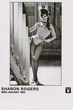 SHARON ROGERS - WILL SIGN W/COA-PHOTOGRAPH-PLAYBOY'S MISS JAN 1964  - by railing