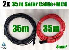2 x 35m Solar Cable MC4 Connector PV Panel to regulator 4mm² Extension Wire