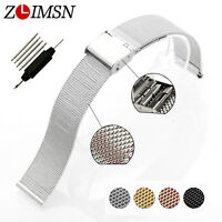 Milanese Stainless Steel Watch Mesh Band Strap Barcelet Mens Women 18 20 22 24mm