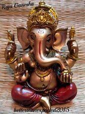 "GANESHA STATUE 6"" Standing HIGH QUALITY Bronze Resin Hindu Elephant God Ganesh"