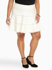 Torrid flared sweater skater skirt - plus size 1 (1X) (14/16) NWT - ivory white