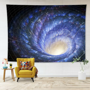 Universe Galaxy Wormhole Interstellar Tapestry Wall Hanging for Living Room Dorm