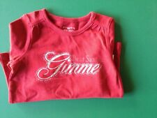 Girls Red Long Sleeve Holiday Dear Santa, Gimme Top -  2T- NWT