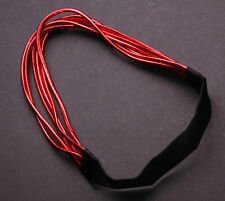 Exuberant - Six Electric Red Strand & Black Elastic Strap Hair Band(Zx144)